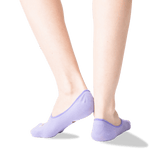 Women's Espresso Self No Show Socks in Lavender Front thumbnail