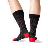 Men's Mr. Right Crew Socks in Black Front