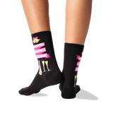 Women's Mother of the Groom Socks in Black Front