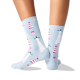 Women's Dress and Cake Socks in Sky Blue Front