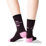 Women's Mrs. Always Right Socks in Black Front thumbnail