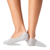 Women's Wifed Up No Show Socks in Gray Heather Front