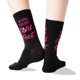 Women's In Case You Get Cold Feet Socks in Black Front thumbnail