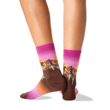 Women's Rodeo Crew Socks in Raspberry Front thumbnail