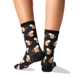 Women's Moscow Mule Crew Socks in Black Front thumbnail