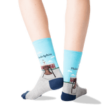 Women's Philadelphia Crew Socks in Sky Blue Front thumbnail
