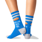 Women's Challah Back Girl Socks in Blue Front