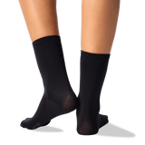 Women's Solid 3-Pack Crew Socks in Black Front thumbnail