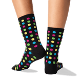 Women's Classic Large Dot Socks in Black Front thumbnail