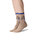 Womens Degas' Study of a Dancer Socks in Royal Blue Front thumbnail