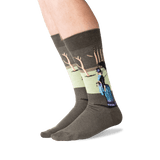 Men's Seurat's A Sunday Afternoon Socks in Green/Blue Front