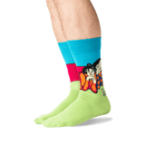 Men's Picasso's Two Acrobats Socks in Teal Front thumbnail