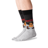 Men's Nashville Crew Socks in Black Front thumbnail