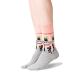 Women's New Orleans Crew Socks in Peach Front