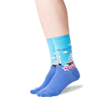 Women's Washington DC Crew Socks in Light Blue Front
