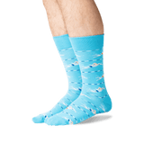 Men's Swimmers Crew Socks in Light Blue Front thumbnail