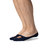 Men's Nice Buns No Show Socks in Navy Front thumbnail