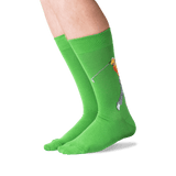 Men's Golfer Crew Socks in Green Front thumbnail