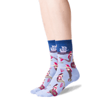 Women's Mermaids Crew Socks in Periwinkle Front thumbnail