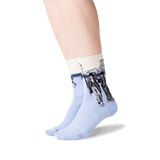 Women's Caillebotte' Paris Street: A Rainy Day Socks in Natural Melange Front thumbnail