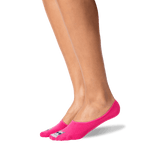 Women's Don't Stress Meowt No Show Socks in Hot Pink Front
