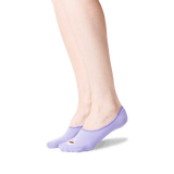 Women's Espresso Self No Show Socks in Lavender Front
