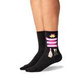 Women's Mother of the Groom Socks in Black Front thumbnail