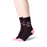 Women's Mrs. Always Right Socks in Black Front