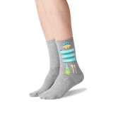 Women's Mother of the Bride Socks in Gray Heather Front