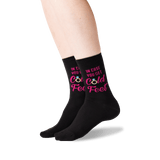 Women's In Case You Get Cold Feet Socks in Black Front