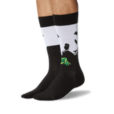 Men's Rob Pruitt's Panda with Bamboo Socks in Black Front thumbnail
