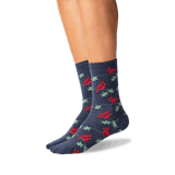 Women's Cardinals Crew Socks in Denim Front thumbnail