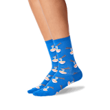 Women's Noodles Crew Socks in Blue Front