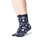 Women's Accountant Crew Socks in Denim Front thumbnail