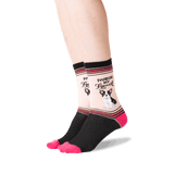 Women's Pardon My French Socks in Black Front