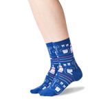 Women's Dentist Crew Socks in Dark Blue Front thumbnail