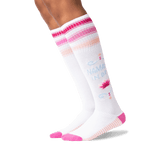 Women's Namaste in Bed Knee High Socks in White Front thumbnail