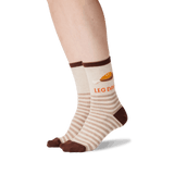 Women's Leg Day Crew Socks in Natural Melange Front