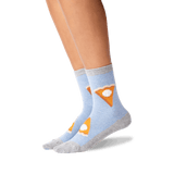 Women's Ride or Pie Socks in Blue Heather Front thumbnail