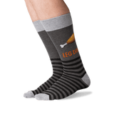 Men's Leg Day Crew Socks in Charcoal Front