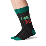 Men's Slow Ho Ho Socks in Black Front