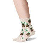 Women's Irish Pup Crew Socks in Natural Melange Front