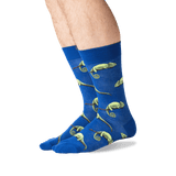 Men's Chameleon Crew Socks in Blue Front
