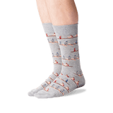 Men's Rowers Crew Socks in Gray Heather Front thumbnail
