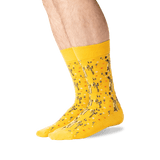 Men's The Kiss Mash Up Socks in Yellow Front