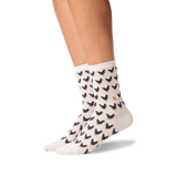 Women's Chicken and Egg Socks in Taupe Front thumbnail