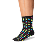 Women's Classic Large Dot Socks in Black Front
