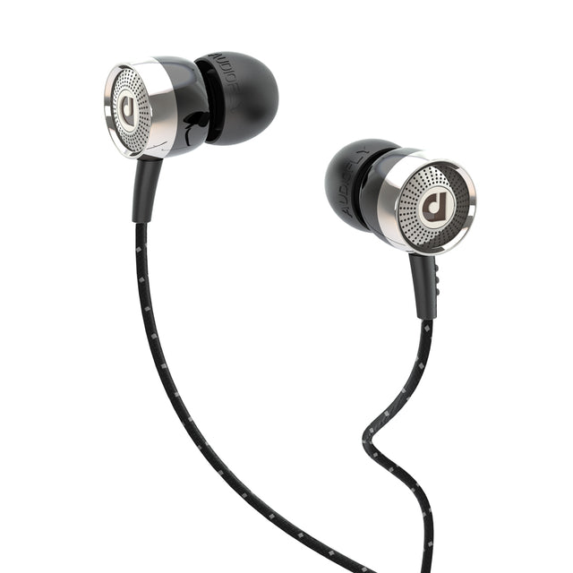 Audiofly AF45C In-Ear Headphones w/Mic and Remote (Wax Black)