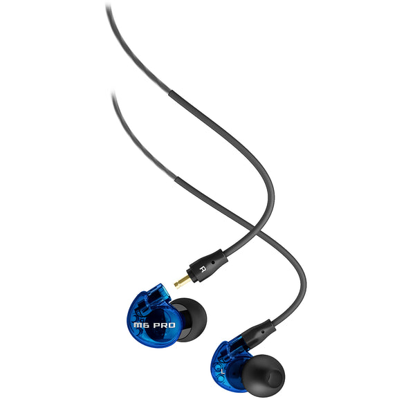 MEE audio M6 PRO Universal-Fit Noise-Isolating In-Ear Monitors (Blue Limited Edition)
