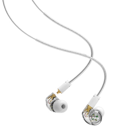 MEE audio M7 PRO Universal-Fit Hybrid Dual-Driver In-Ear Monitors (Clear)